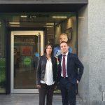 """Firma de convenio entre Fundhex y La """"Obra Social La Caixa"""" de Calamonte"""