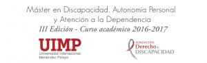 Máster en Discapacidad, Autonomía Personal y Atención a la Dependencia